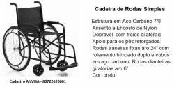 CADEIRA DE RODAS SEMI -LUXO ESTOFADA